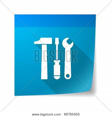 Sticky Note Icon With A Tool Set