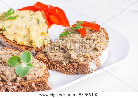 Lentil And Chickpeas Paste For Bread