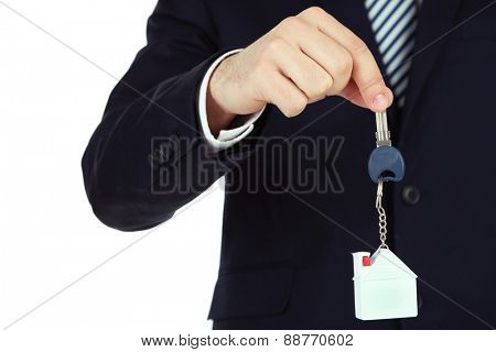 Hand with keys, closeup