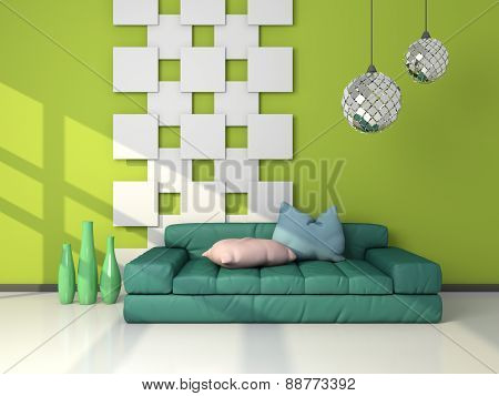 3d rendered modern interior.