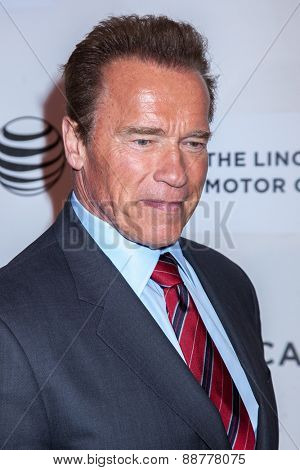 NEW YORK, NY - APRIL 22: Actor Arnold Schwarzenegger attends the 2015 Tribeca Film Festival world premiere narrative: 'Maggie' at BMCC Tribeca PAC on April 22, 2015 in New York City.