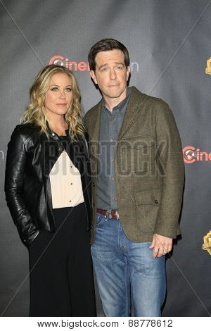 LAS VEGAS - APR 21: Christina Applegate, Ed Helms at the Warner Bros. Pictures Exclusive Presentation Highlighting the Summer of 2015 and Beyond at Caesars Pallace on April 21, 2015 in Las Vegas, NV