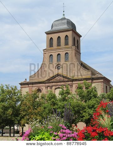 Church, Neuf Brisach, France