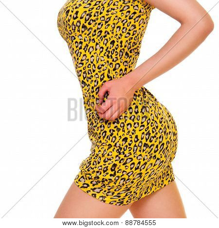 Woman In Yellow Summer Dress