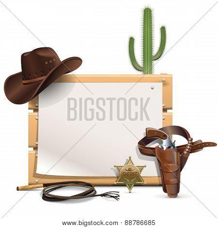 Vector Cowboy Frame