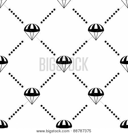 Parachute Vector Seamless Pattern
