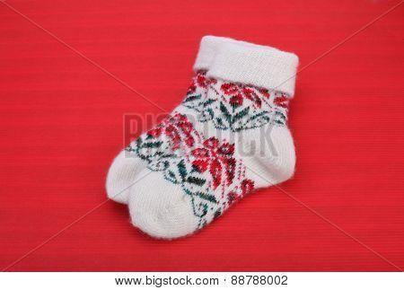 winter knitted woolen socks