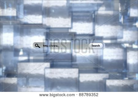 Search engine against abstract square background