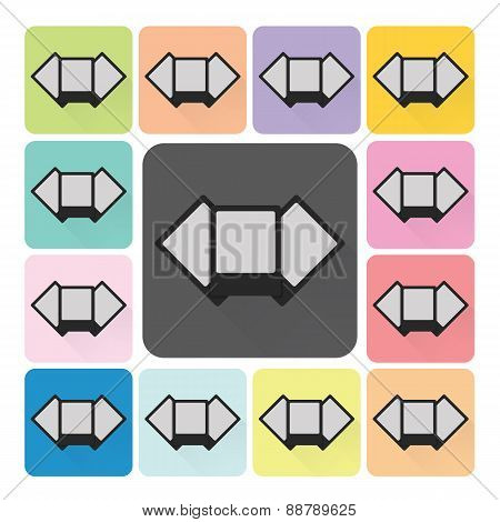 Pictures Icon Color Set Vector Illustration
