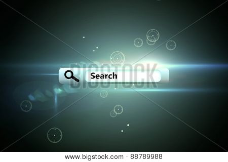 Search engine against circles on glowing background
