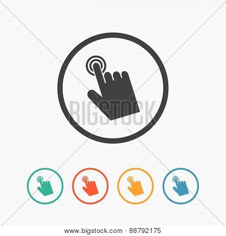 Cursor hand icon. Click sign