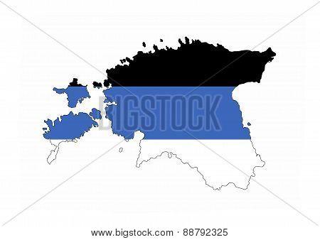 Estonia Flag Map