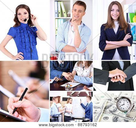Collage of business photos