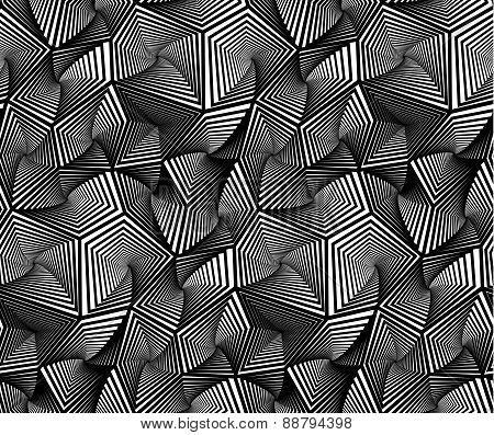 Abstract Geometric Triangular Vector Seamless Pattern