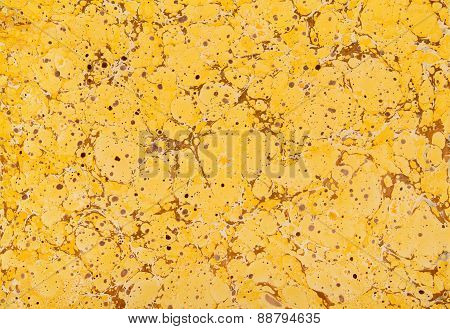 Yellow And Brown Marble Paper