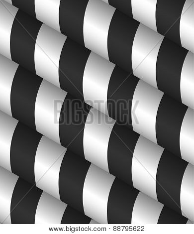 3D Striped Vector Seamless Pattern
