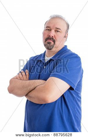 Serious Man Crossing His Arms In Aggressive Look