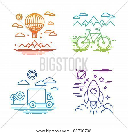 Vector Travel And Transportation Concepts