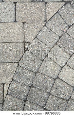 Grey Brick Paving Background Pattern