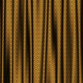 foto of lace-curtain  - Curtain golden lace generated texture or background - JPG