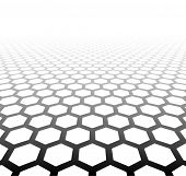 foto of grids  - Perspective grid hexagonal surface - JPG