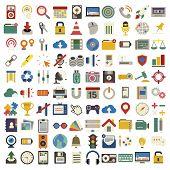 stock photo of funky  - Social Media Funky Internet Symbols Icons Vector Concept - JPG