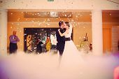 image of night gown  - beautiful romantic first dance by wedding couple - JPG