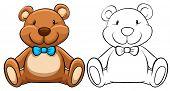 pic of teddy  - Doodles classic brown teddy bear - JPG
