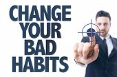 foto of  habits  - Business man pointing the text - JPG