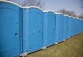 stock photo of toilet  - portable outdoor toilets  - JPG