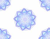 image of plasmatic  - Seamless floral pattern in blue on white background - JPG