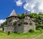 stock photo of fortified wall  - Medieval fortification  - JPG