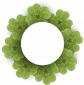 picture of clover  - Clover wreath - JPG