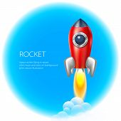picture of spaceships  - Rocket icon space vector spaceship technology illustration ship fire symbol flame cartoon art - JPG