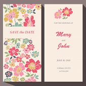 stock photo of bridal shower  - Vector card template - JPG