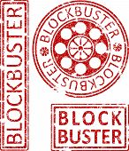 ������, ������: Blockbuster Ruber Stamps Vector illustration