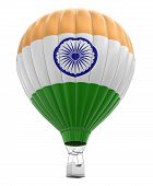 pic of indian flag  - Hot Air Balloon with Indian Flag - JPG