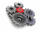 image of three dimensional shape  - Cogwheels - JPG