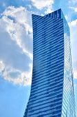 stock photo of highrises  - Highrise building against blue sky - JPG