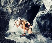 stock photo of cave woman  - Adventure - JPG