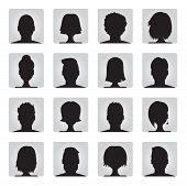 stock photo of avatar  - vector set of colorful user profile illustrations - JPG