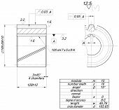 stock photo of degree  - Expanded wheel sketch with circle diameter - JPG