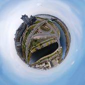 picture of kiev  - aerial view of Rusanovka channel in Kiev - JPG