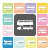 foto of motor-bus  - Bus Icon color set vector illustration  - JPG
