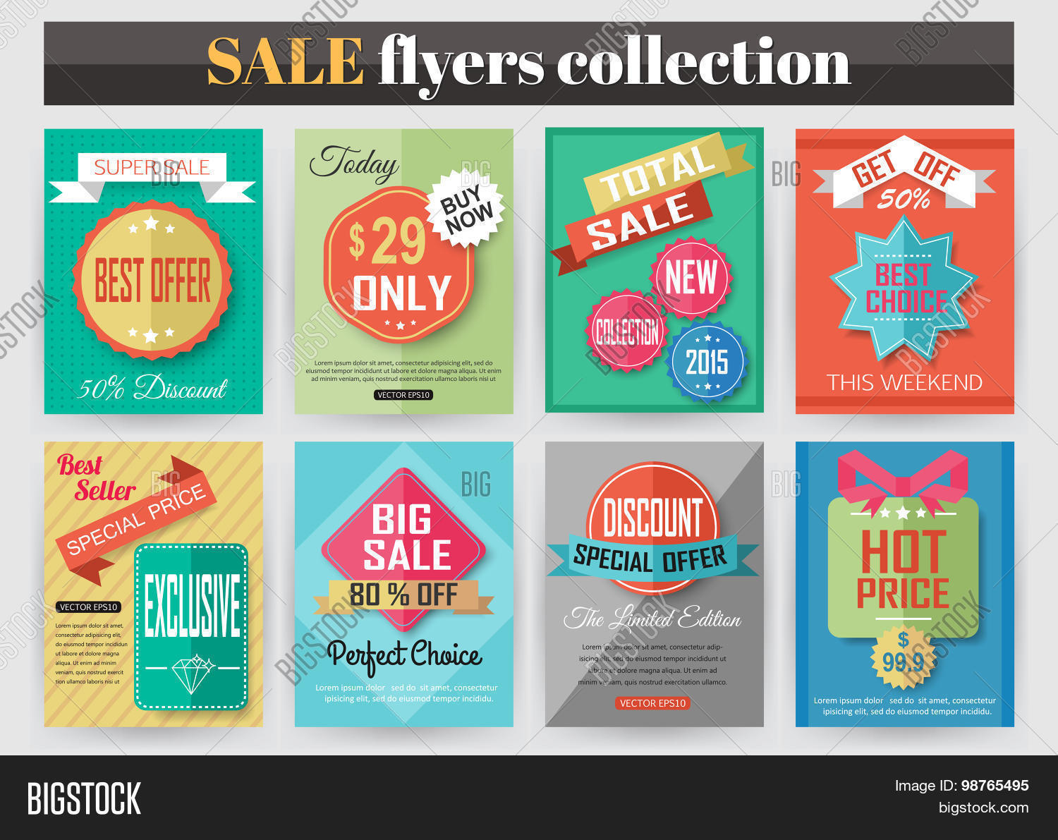 set of colorful flyers best creative design for and set of colorful flyers best creative design for and discount offers poster
