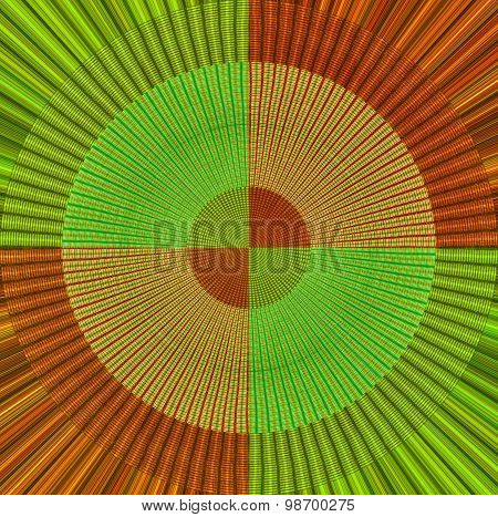 Abstract Fabric design in green and red