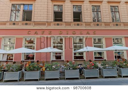 Cafe Diglas (circa 1875) In Vienna, Austria