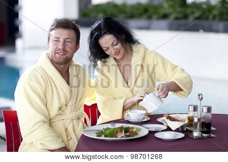 Couple in hotel