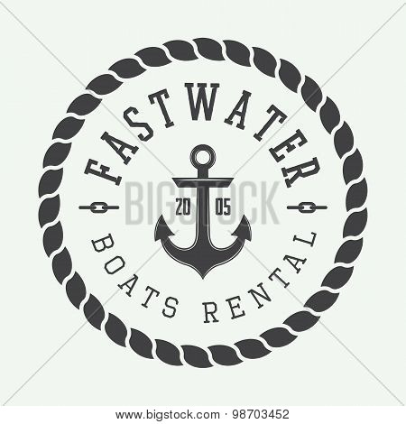 Set Of Vintage Rafting Or Boat Rental Logo, Labels And Badges.