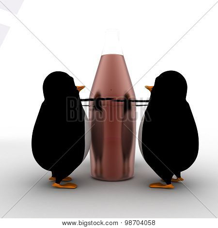3D Penguin Sorrounding A Missile Concept